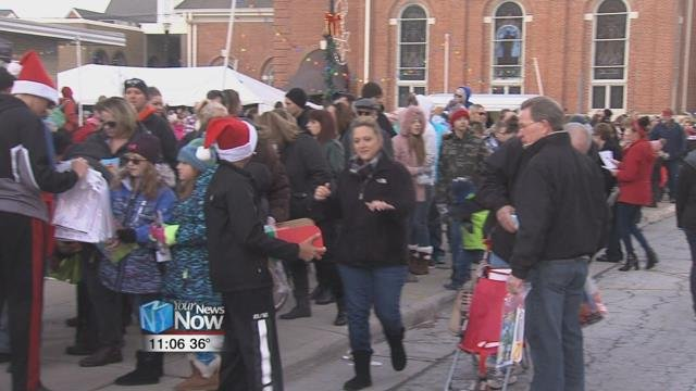 The town held a parade for day two of their annual Children's Hometown Holiday celebration weekend, which featured 50 favorite characters for kids to meet.