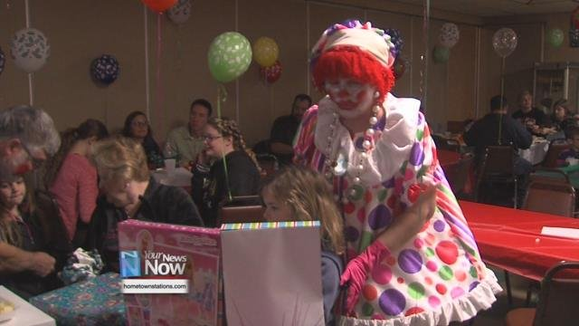 The VFW Post 6227 Clown Unit has been hosting their annual Christmas party for kids at the VFW in Spencerville for 38 years.