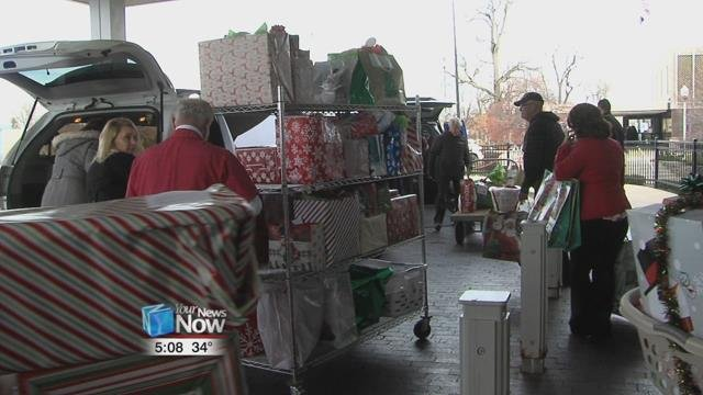The gifts were loaded up Tuesday morning to get sorted and delivered to the area seniors.