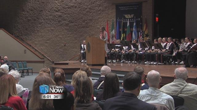 The ceremony included the new citizens giving an oath to the country and speeches from local high school students about the obligations and benefits of being a citizen.