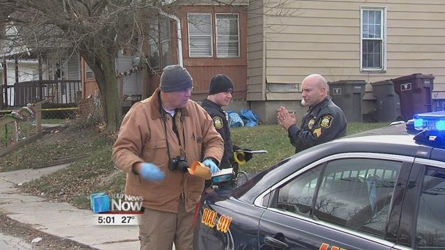 Detectives were on the scene and planned on interviewing the residents of the home for any leads.