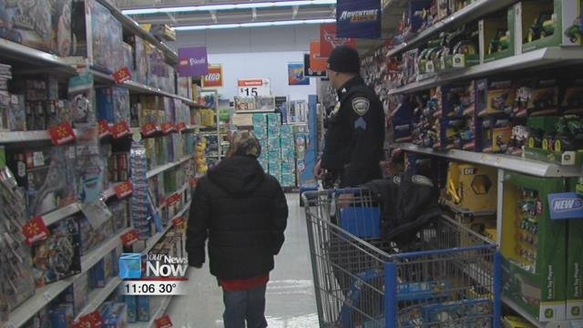 Shop with a Cop at Walmart