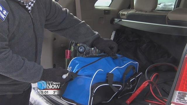 Make sure you have an emergency kit in the car.