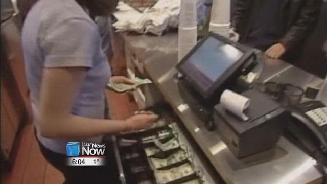 The hourly minimum wage is going up 15 cents, from $8.15 an hour to $8.30.
