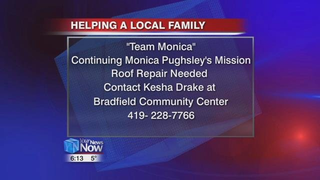 If you would like to help this local family, call Drake at the Bradfield Community Center at 419-228-7766.