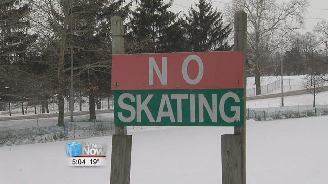 Lima Director of Parks, Recreation and Forestry, Ric Stolly, said it is still not safe enough to skate yet.