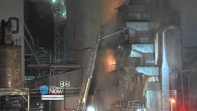 Officials say that mostly likely a bean dryer caught fire at the Bunge North America Oilseed Processing plant around 7:30 p.m.
