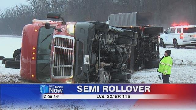 According to the Ohio State Highway Patrol, the driver's speed and the road conditions were factors in the accident.