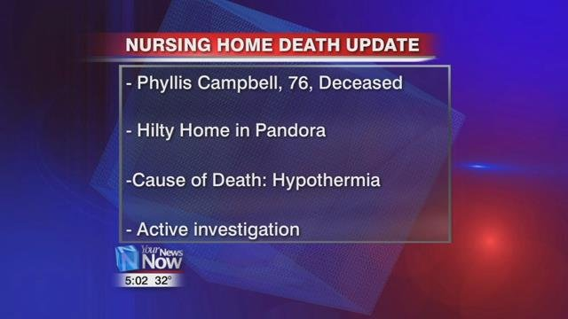 Coroner rules Putnam County woman died from hypothermia