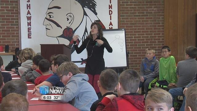 Kari Taylor is executive director at Cornerstone of Hope Lima and she's teaching middle schoolers how to handle stress.