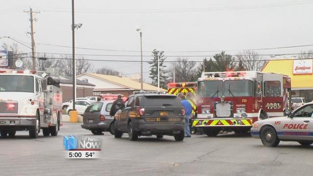 The accident happened just after 11:30 in the Walgreens parking lot on the corner of Cable and Allentown Roads, where a van backed away from traffic on Allentown Road into a truck.