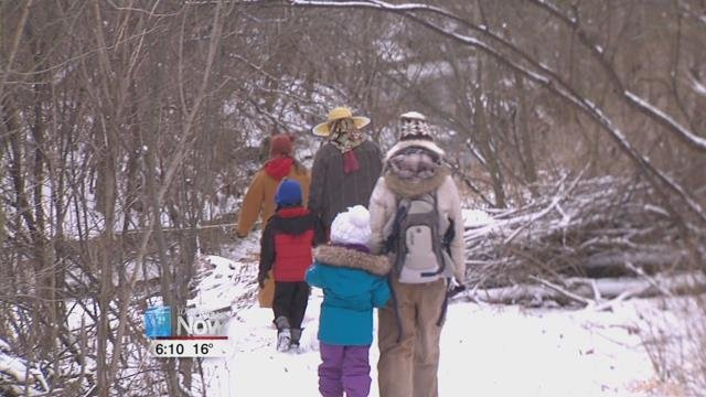 The cold didn't keep some nature lovers away from their hike Sunday afternoon in Putnam County.
