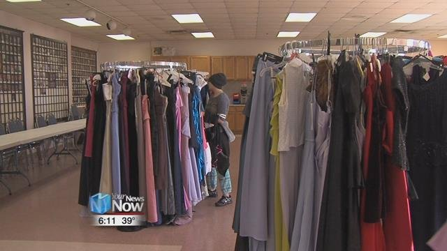 The Kiwanis teamed up with Duffy's Cleaners to hold their annual Diva's Den event, giving out free dresses to area high schoolers.