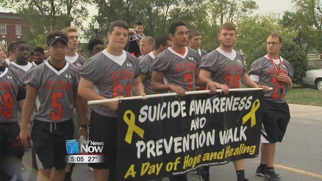 Local school districts have been active in trying to spread the word about the importance of communication between students to help identify who may be considering suicide.
