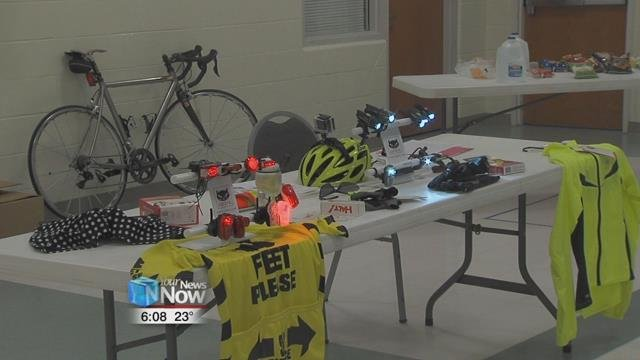 The task force brought in two local businesses to demonstrate their latest products in bike safety.