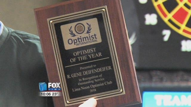 Wednesday, the members celebrated the start of their club's charter 69 years ago, plus recognized one of them as Optimist of the Year.