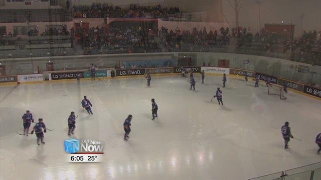 She also said amid earlier reports, South Korea media is reporting the combined hockey team is cooperating well.