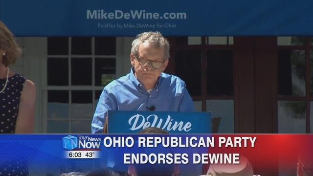 Ohio Republican party chairwoman Jane Timken says that DeWine is the right person to lead Ohio.
