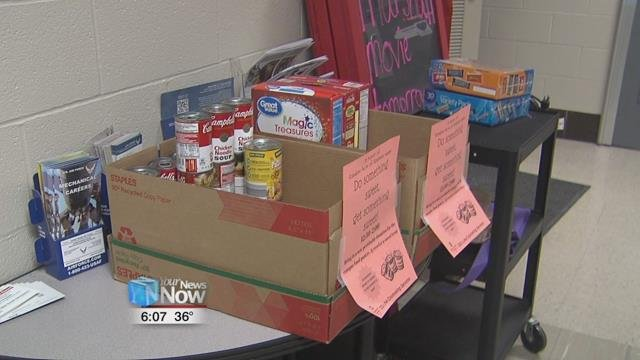 Part of the Random Acts of Kindness Week, the OSU Lima Counseling Services held a food drive for the campus food pantry.