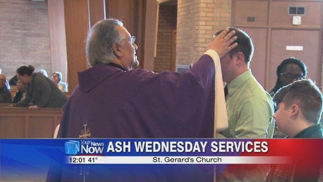 Today(2/14/18) is Ash Wednesday and services were held, like the one at St. Gerard's, to mark the beginning of Lent that lasts until Easter.