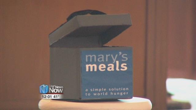 During Lent, St. Gerard's is collecting money for the Mary Meal's charity, which provides food for starving children in the world's poorest communities.