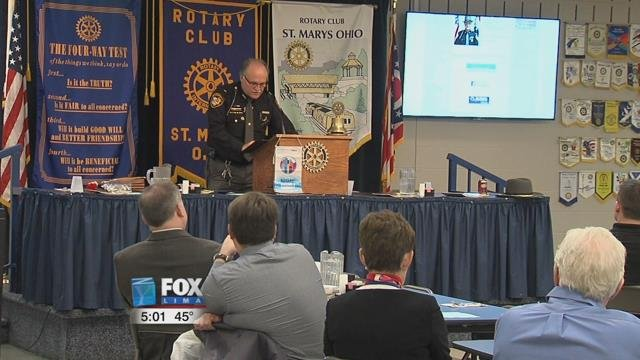 Sheriff Al Solomon spoke at the St. Marys Rotary Club meeting, on Wednesday afternoon, giving an update on their best way to combat the issue, their special response team.