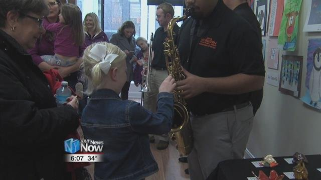 The Lima Symphony Orchestra sponsored an instrumental petting zoo at the Riverside Arts Center.