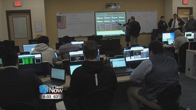 Findlay City Schools hosted a cyber security competition that placed teams of two, in cyber capture the flag.