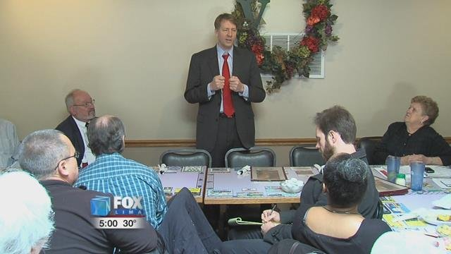 Cordray spoke at the Allen County Democratic Women's Club Luncheon at Casa Lu Al.