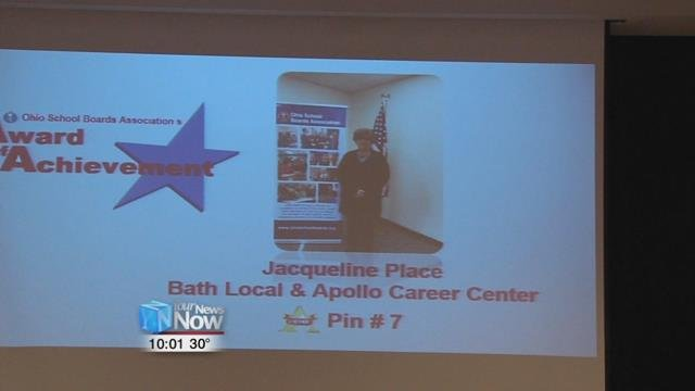 Jackie Place was also recognized for being a 15 year veteran board member.
