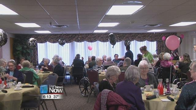 Seven women turning 100 years old this year were recognized Saturday afternoon with a party