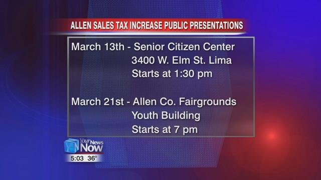 The Allen County Commissioners are offering the public a couple of chances to learn more about the proposed sales tax increase on the May ballot.