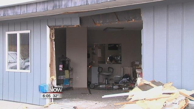 According to the Delphos police chief, an 80-year-old woman said her foot slipped off the brake and on to the gas pedal causing her car drive into the business.
