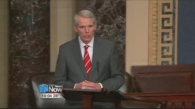"U.S. Senator Rob Portman spoke on the Senate floor, in support for the ""stop enabling sex traffickers act"" or ""SESTA""."