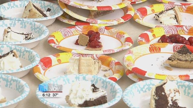 Students and staff at Bluffton University celebrated the holiday with interesting facts about the symbol pi, some of the history behind the holiday, and enjoying some slices of pie...that's p-i-e.