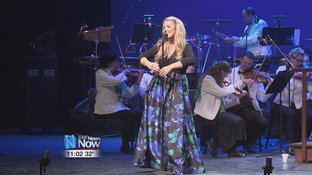 Former Celtic Woman Chloë Agnew spent the night at Niswonger Performing Arts Center singing a mix of Irish and contemporary music with the Atlanta Pops Orchestra.