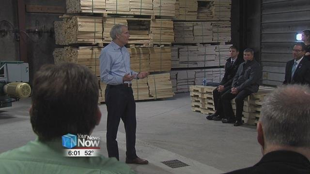 One stop Portman made was at the Lima Pallet Company to tour the facility and hold a roundtable discussion.