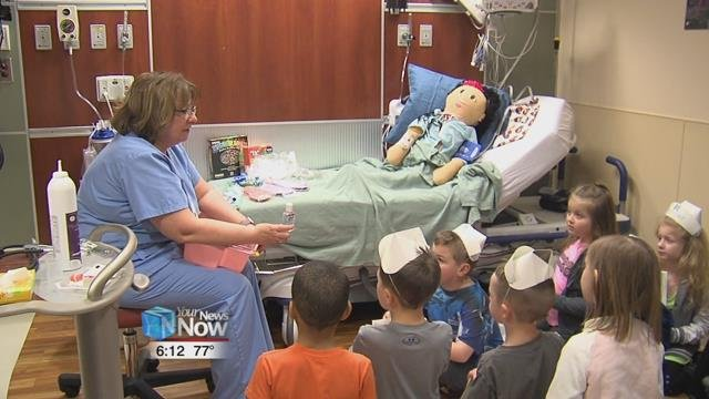 To help ease some of those fears, Grand Lake Health System invites local elementary school students in, to get a look at different aspects of the hospital, and how it all works.