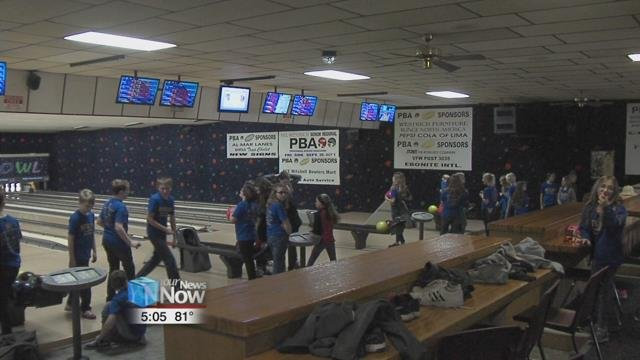 47 fifth graders spent time at the Delphos Recreation Center for some bowling and lunch to wrap up the time that they have been going through the D.A.R.E. Program.