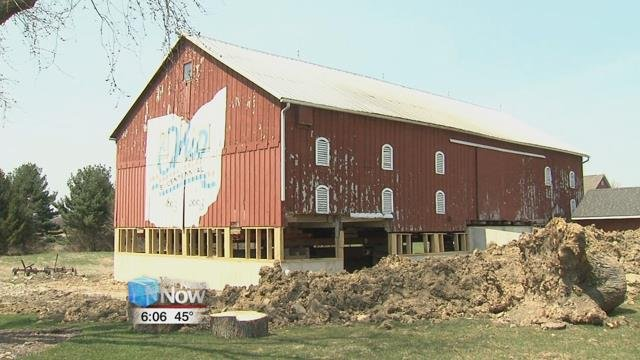 Estimated to have been built as early as 1857, the barn is currently going through renovations to be used as a storage facility for the park.