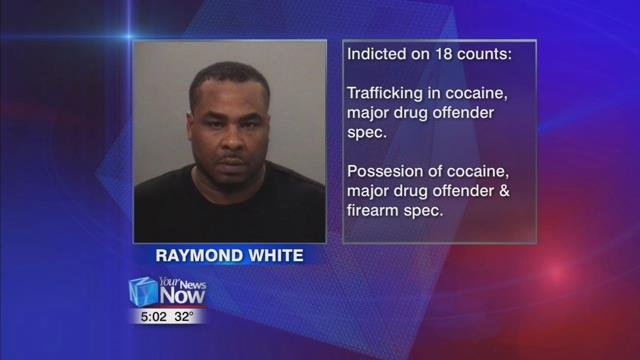 Raymond White has been indicted and is facing a total of 18 counts.