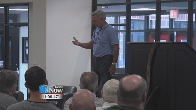 "Former college football Coach Tommy Bowden spoke to men at Apollo Career Center as a part of Lima Baptist Temple's Men's Ministry series ""Man to Man""."