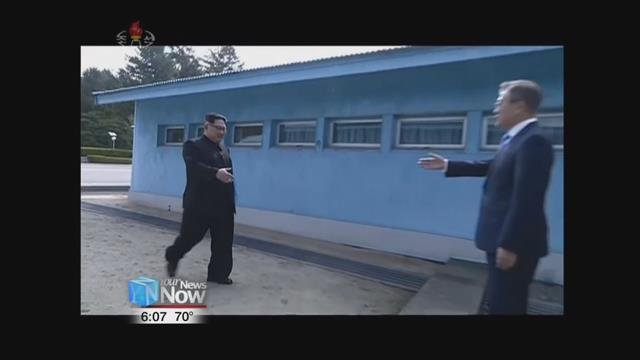 Both heads of North and South Korea Kim Jong Un and Moon Jae-In met in the demilitarized zone to discuss peace between the two