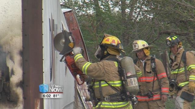 Several area fire departments called out for a barn fire near Spencerville this afternoon.