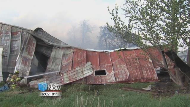 The Spencerville Invincible Fire Department called out to the 1400 block of West Union Road, around 3:30 p.m. Wednesdayafternoon on reports of a barn on fire.