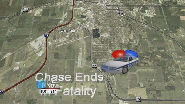 Findlay Police say 48-year-old Crystal Moore of Findlay is dead following the chase early Wednesday morning.