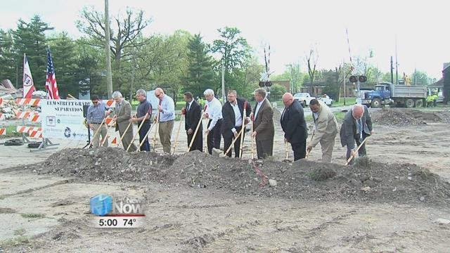 on Thursday, the City of Lima broke ground on their $13.8 million grade separation project.