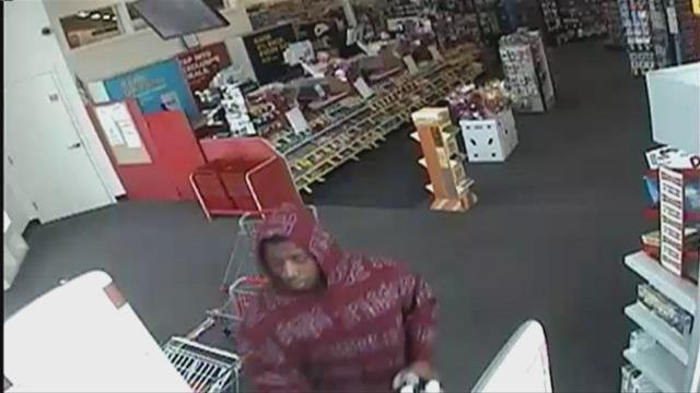 Lima Police are seeking a man suspected of robbing the CVS Pharmacy on Bellefontaine Ave. late Saturday afternoon