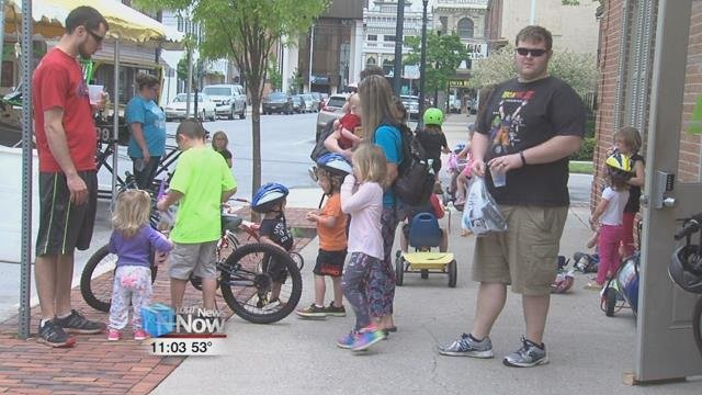Parents brought their kids out to the 10th annual Bicycle Safety Day to make sure kids as safe as they can be when they are on their bikes.