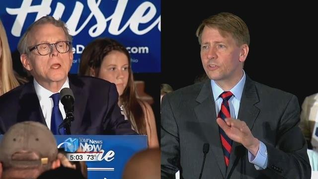 The 2018 Governor's race between Mike DeWine and Richard Cordray is a rematch of the 2010 Ohio Attorney General Race, where DeWine won by a little over 1 percentage point.